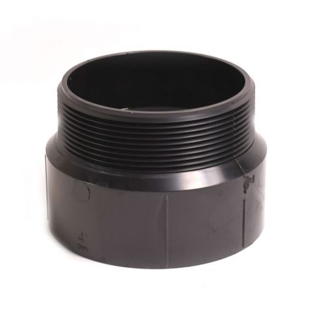Thrifco Plumbing 6792874 92874 4 Inch ABS MALE ADAPTER