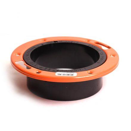 Thrifco Plumbing 6793611 4 x 4 Adjustable Ring Flange Hu