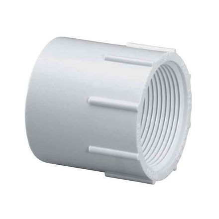 Thrifco Plumbing 8113076 4 Inch Slip x Female Thread PVC Adapter SCH 40