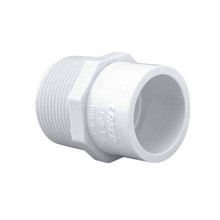Thrifco Plumbing 8113184 1-1/4 Inch Male Thread x Slip PVC Adapter SCH 40