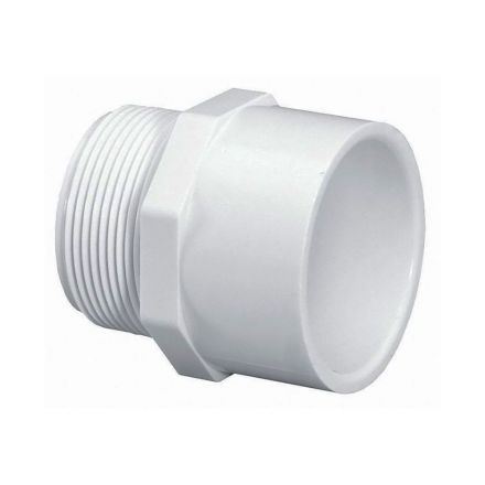 Thrifco Plumbing 8113210 3 Inch Male Thread x 4 Inch Slip PVC Adapter SCH 40