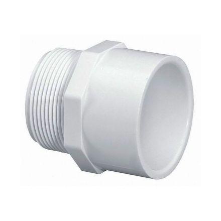 Thrifco Plumbing 8113212 4 Inch Male Thread x Slip PVC Adapter SCH 40