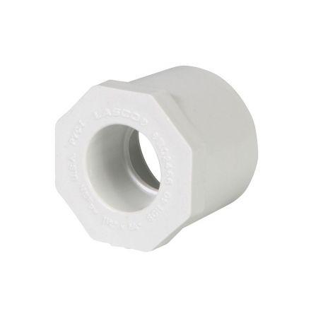 Thrifco Plumbing 8113372 4 Inch x 2-1/2 Inch Slip x Slip PVC Bushing SCH 40