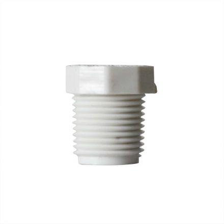 Thrifco Plumbing 8113548 3/8 Inch x 1/4 Inch Threaded x Threaded PVC Bushing SCH 40