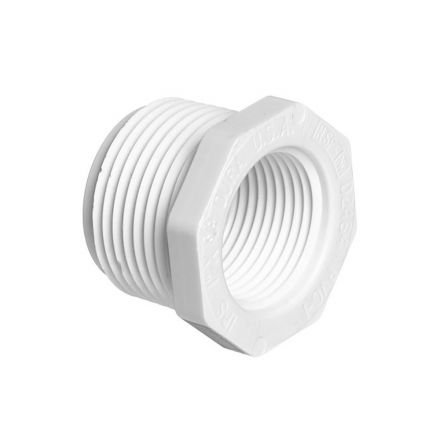 Thrifco Plumbing 8113592 1-1/2 Inch x 3/4 Inch Threaded x Threaded PVC Bushing SCH 40