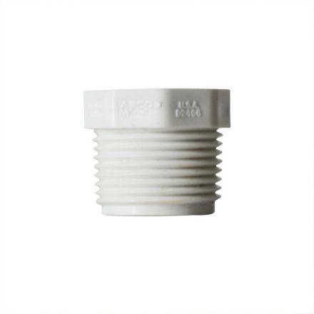 Thrifco Plumbing 8113602 2 Inch x 1 Inch Threaded x Threaded PVC Bushing SCH 40