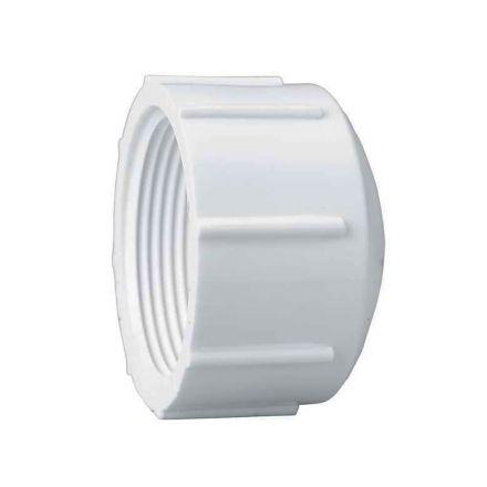 Thrifco Plumbing 8113724 1-1/2 Inch PVC Threaded Cap SCH 40