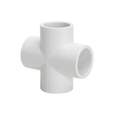 Thrifco Plumbing 8113932 1 Inch PVC Slip Cross SCH 40