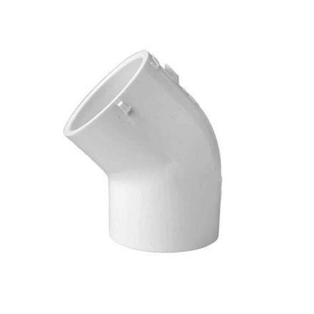 Thrifco Plumbing 8114028 1-1/4 Inch x 1-1/4 Inch Slip x Slip PVC 45 Degree Elbow SCH 40
