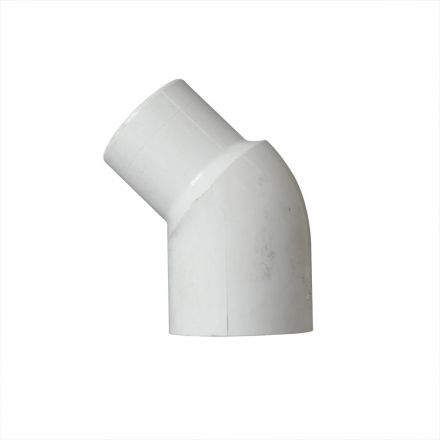 Thrifco Plumbing 8114056 1-1/2 Inch Slip x Slip PVC 45 Degree Street Elbow SCH 40