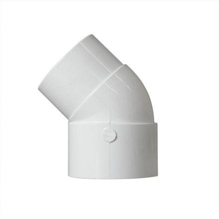 Thrifco Plumbing 8114057 2 Inch Slip x Slip PVC 45 Degree Street Elbow SCH 40