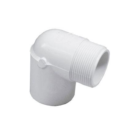 Thrifco Plumbing 8114168 3/4 Inch Male Thread x Female Slip PVC 90 Street Elbow SCH 40