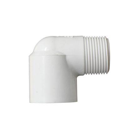 Thrifco Plumbing 8114170 1 Inch Male Thread x Female Slip PVC 90 Street Elbow SCH 40