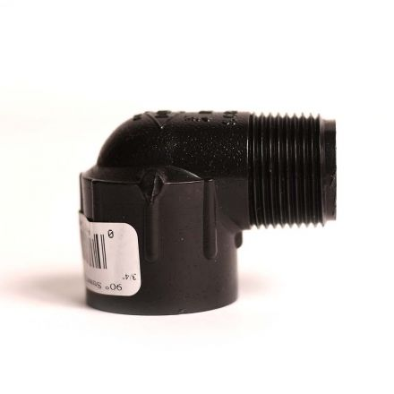 Thrifco Plumbing 8114189 3/4 Inch Threaded x Threaded Marlex 90 Street Elbow SCH 40