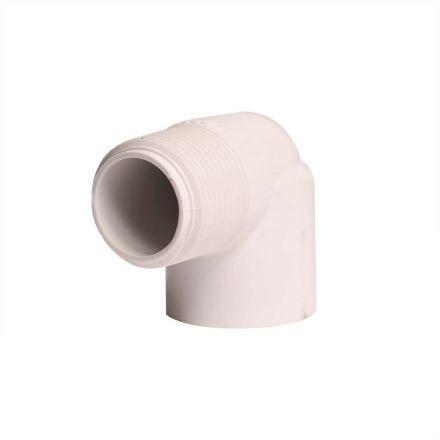 Thrifco Plumbing 8114190 1 Inch Male Thread x Female Thread PVC 90 Street Elbow SCH 40