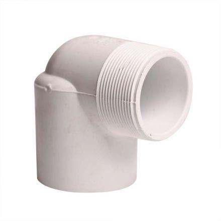 Thrifco Plumbing 8114196 2 Inch Male Thread x Female Thread PVC 90 Street Elbow SCH 40