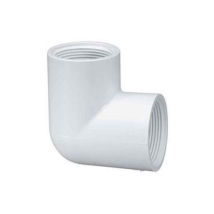 Thrifco Plumbing 8114208 3/4 Inch Female Thread x Female Thread PVC 90 Elbow SCH 40