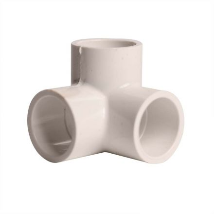 Thrifco Plumbing 8114268 1/2 Inch Slip x Slip x Slip PVC Side Outlet Elbo. SCH 40