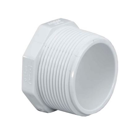 Thrifco Plumbing 8114324 2 Inch Threaded PVC Plug SCH 40