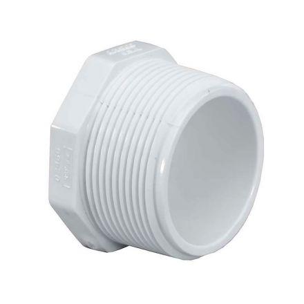 Thrifco Plumbing 8114330 4 Inch Threaded PVC Plug SCH 40