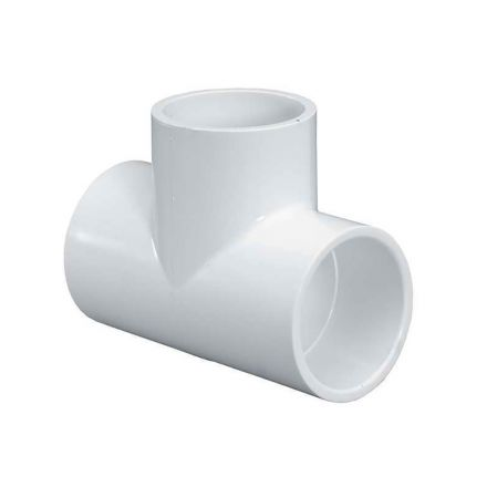 Thrifco Plumbing 8114686 4 Inch Slip x Slip x Slip PVC Tee SCH 40