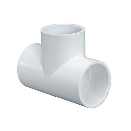 Thrifco Plumbing 8114752 3/4 Inch x 1/2 Inch Slip x Threaded PVC Tee SCH 40