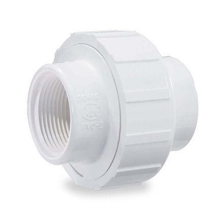 Thrifco Plumbing 8114990 1-1/4 Inch Threaded x Threaded PVC Union SCH 40