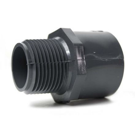 Thrifco Plumbing 8213190 1-1/2 Inch Slip x Threaded PVC Male Adapter SCH 80