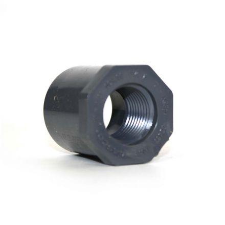 Thrifco Plumbing 8213334 2 Inch x 1-1/4 Inch Slip x Slip PVC Bushing SCH 80