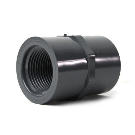 Thrifco Plumbing 8213768 1 Inch Threaded x Threaded PVC Coupling SCH 80