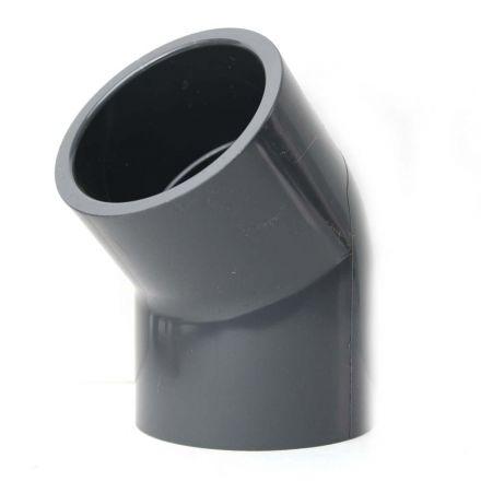Thrifco Plumbing 8214032 2 Inch Slip x Slip PVC 45 Elbow SCH 80