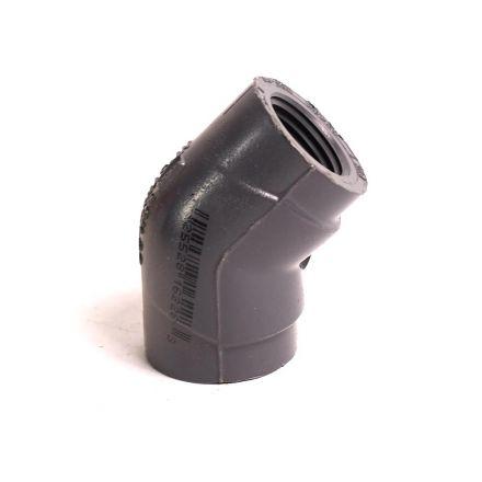 Thrifco Plumbing 8214034 1/2 Inch Threaded x Threaded PVC 45 Elbow SCH 80