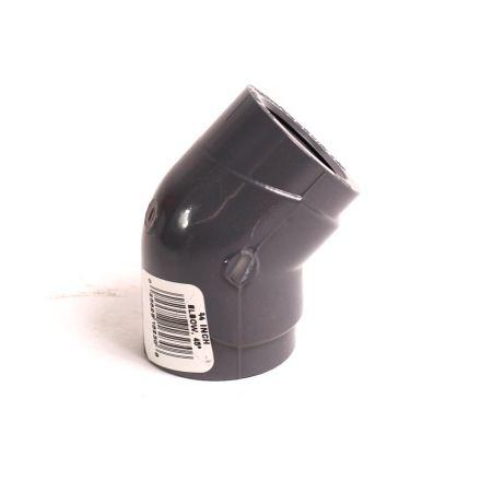 Thrifco Plumbing 8214036 3/4 Inch Threaded x Threaded PVC 45 Elbow SCH 80