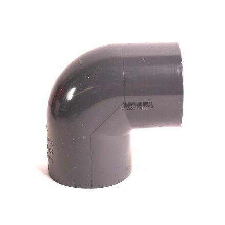 Thrifco Plumbing 8214074 1-1/4 Inch Slip x Slip PVC 90 Elbow SCH 80