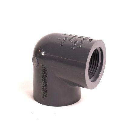 Thrifco Plumbing 8214206 1/2 Inch Threaded x Threaded PVC 90 Elbow SCH 80