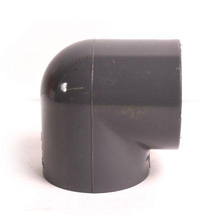 Thrifco Plumbing 8214214 1-1/2 Inch Threaded x Threaded PVC 90 Elbow SCH 80