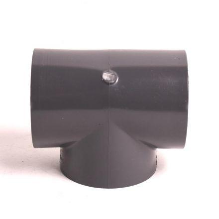 Thrifco Plumbing 8214946 1-1/2 Inch Threaded x Threaded x Threaded PVC Tee SCH 80