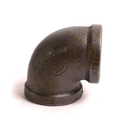 Thrifco Plumbing 8317008 1-1/4 90 Elbow Black