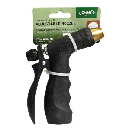 Thrifco Plumbing 8430342 Adjustable Back Trigger Brass Tip Nozzle