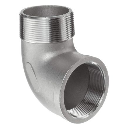 Thrifco Plumbing 9017038 1/8 90 Stainless Steel St.Elbow - Packaged