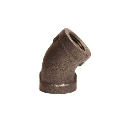 Thrifco Plumbing 9117031 3/8 45 Black Elbow