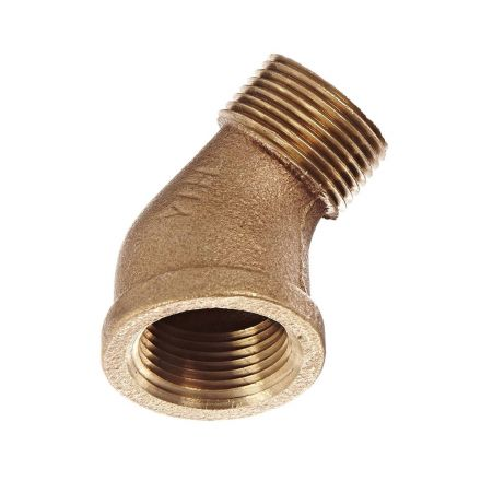 Thrifco Plumbing 9317048 1/4 45 Brass St Elbow