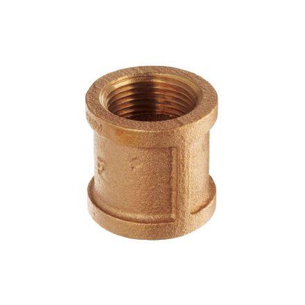 Thrifco Plumbing 9318019 3/8 Brass Coupling