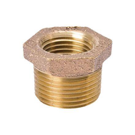 Thrifco Plumbing 9318057 3/8 X 1/4 Brass Bushing