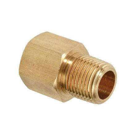 Thrifco Plumbing 9319051 3/4 Inch FIP x 1/2 Inch MIP Brass Hex Bushing Adapter