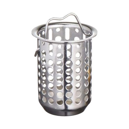 Thrifco Plumbing 9401801 2-1/2 Inch Deep Replacement Basket for Jr. Duo Strainer (Chrome)