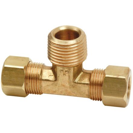Thrifco Plumbing 9472009 72 3/8 Inch x 3/8 Inch Lead-Free Brass Compression MIP Tee