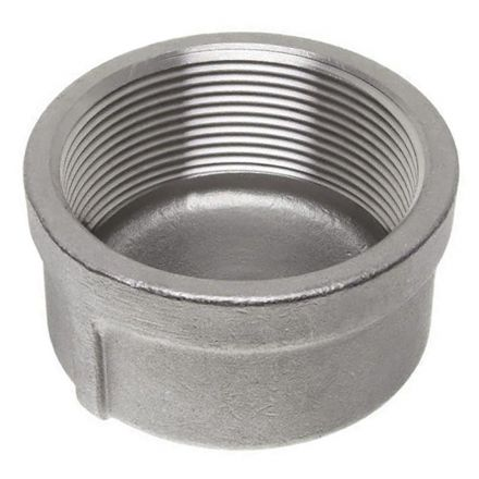 Thrifco Plumbing 8918088 2 Inch Cap Stainless Steel - Bulk