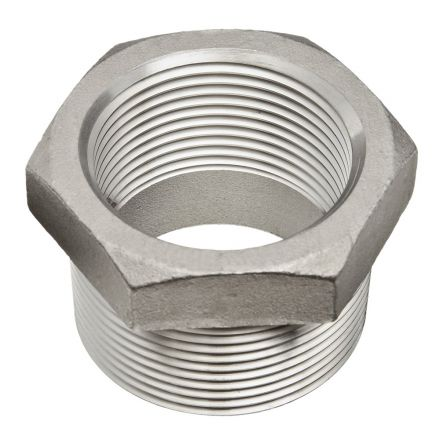 Thrifco Plumbing 9018063 3/4 X 1/4 Stainless Steel Bushing - Packaged