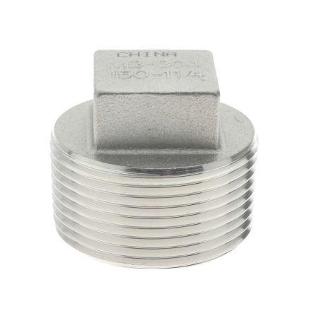 Thrifco Plumbing 8918097 2 Inch Plug Stainless Steel - Bulk